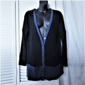 Sonia Rykiel  drop shoulder cotton cardigan M